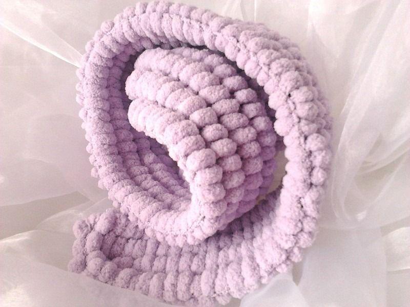 Echarpe petite fille en laine pompons tricot fait main   Mode filles par  creatoutcoeur 940fbd6ffe5