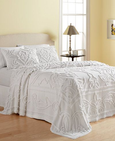 Martha Stewart Collection Wooster 100 Cotton Tufted Chenille Bedspread And Sham Collection Created For Macy S Bed Spreads Queen Bedspread Chenille Bedspread