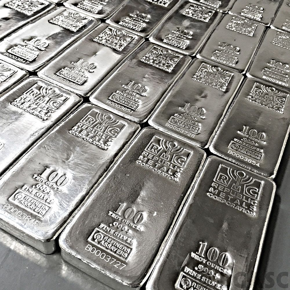 Sbar 100 Oz Silver Bars