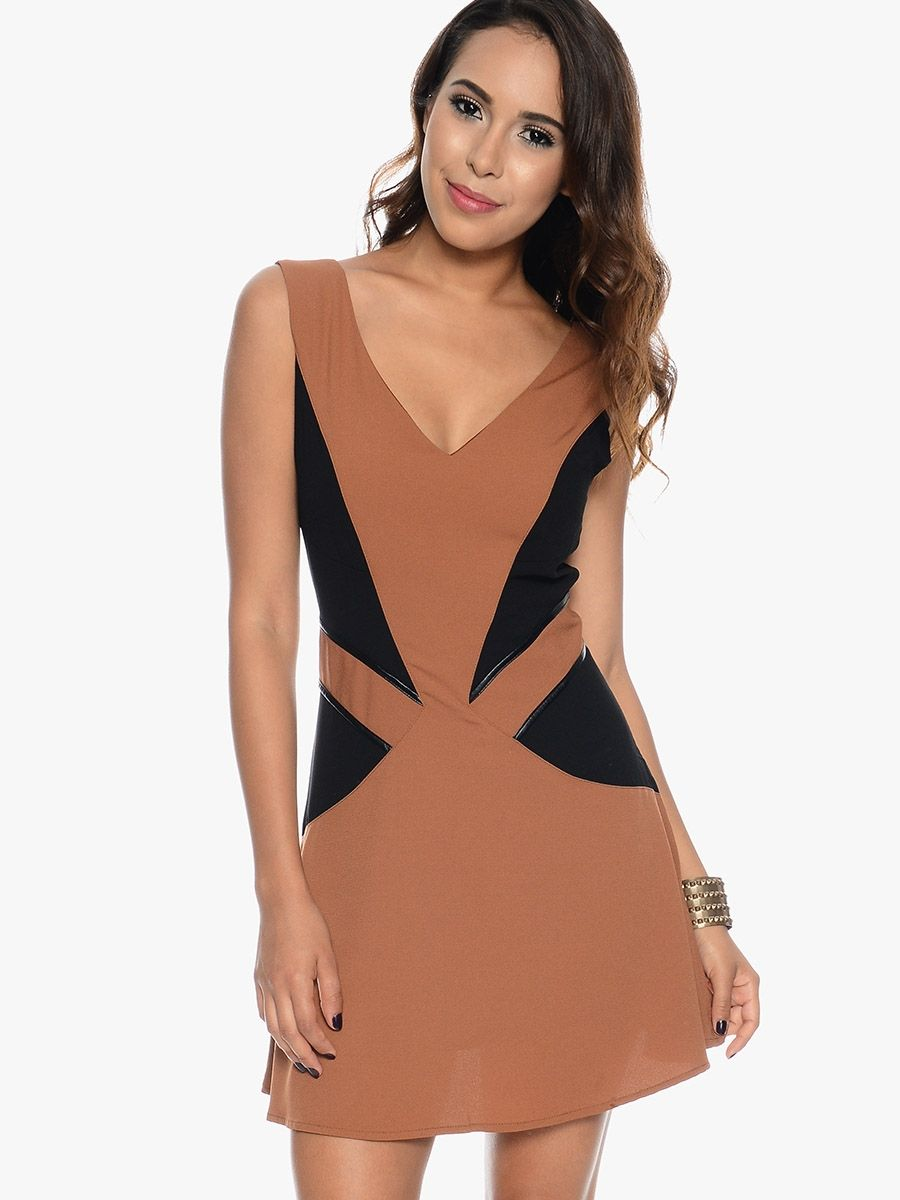 163abb261ab Camel The Perfect Sleeveless Party Dress