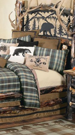 Rustic Bedding Sets for 2020   Cabin Bedding   Lodge Comforters