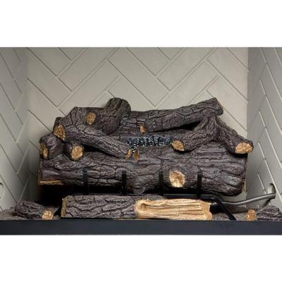 Savannah oak 30 in vent free propane gas fireplace logs for Fireplace xtrordinair 4237