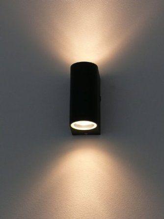 Aplique De Pared Para Interior Y Exterior Updown Black 10217 2 X Gu10 Luces En Escaleras Lampara De Pared Iluminacion Interior