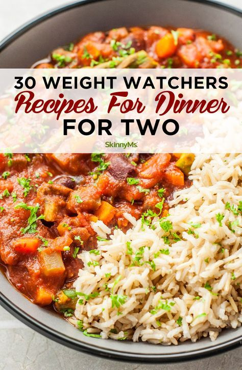 30 Weight Watchers Recipes for Dinner is part of Weight loss dinner recipes - These 30 different amazing Weight Watchers Recipes for Dinner for Two make it easier to cook a deliciously healthy dinner that doesn't create leftovers