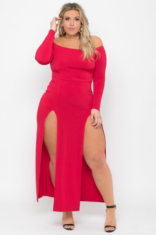 e53fa7573e8b0 Plus Size Mesh Overlay Active Dress - Red