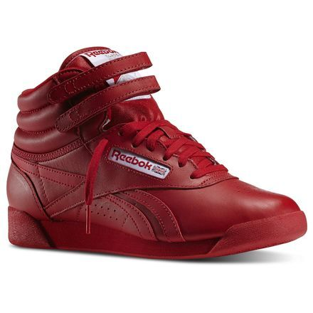 Reebok Females Freestyle Hi Spirit in Excellent Red   White Size 6.5 -  Fitness a34dfe1cb7df9