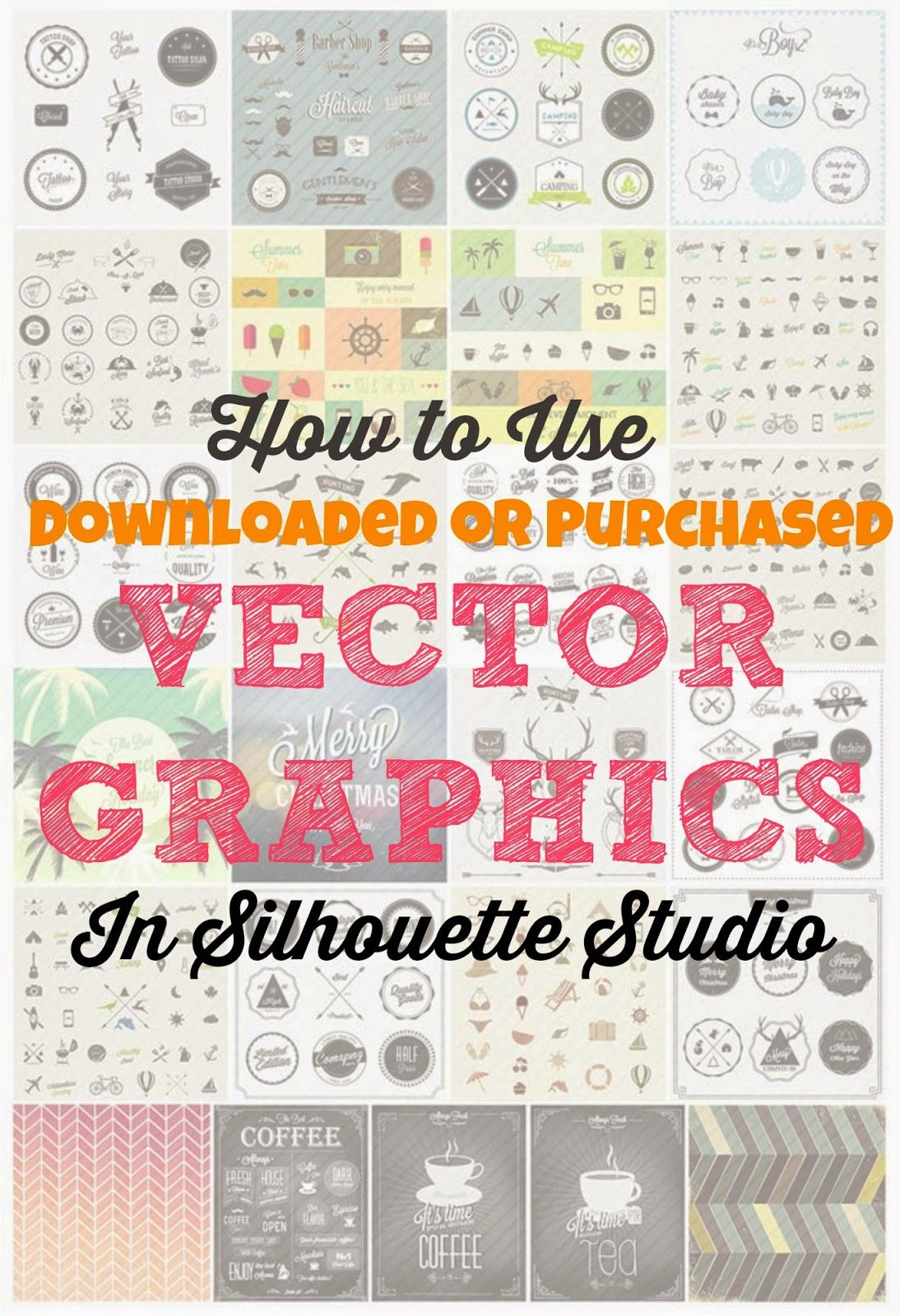 How to use downloaded vector graphics in Silhouette Studio