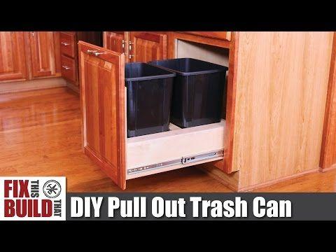 Diy Pull Out Kitchen Cabinet Trash Can Hometalk Papierkorb Schubladen Mulleimer Ideen