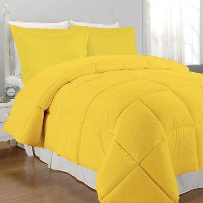 Inspirational solid Yellow Twin Comforter