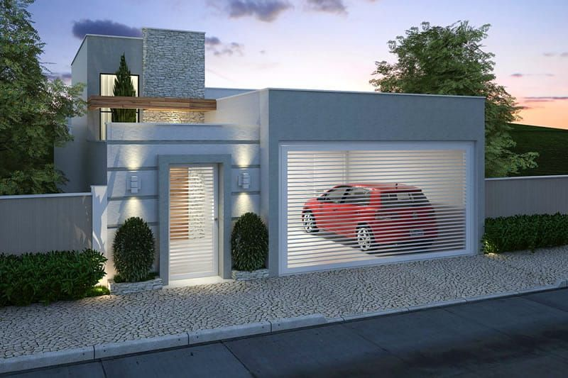 Planta de casa pequena com 3 quartos portao para casa for Diseno casas pequenas modernas