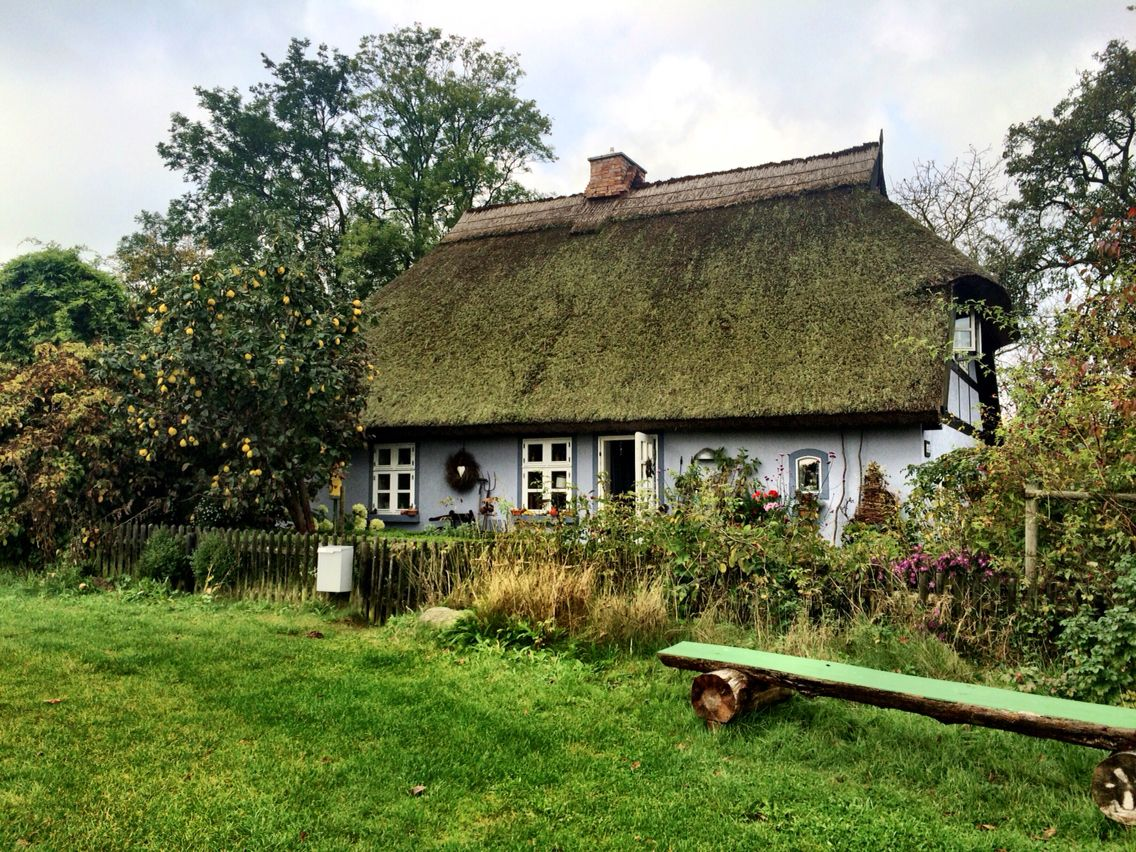 Reetdachhaus. Quilitz. Insel Usedom. Germany. Cottage