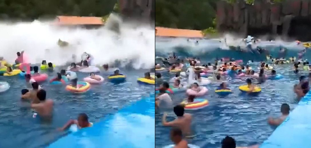 water park tsunami of a wave pool