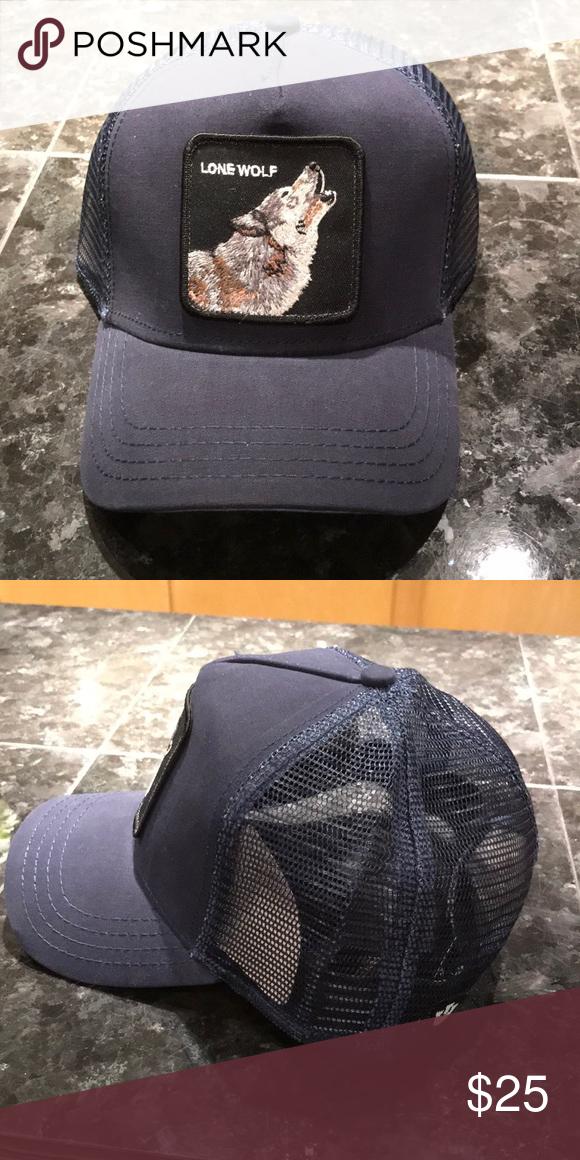 d24786be 'Lone Wolf' Trucker Hat Navy Blue 'Lone Wolf' Trucker Hat Goorin Bros  Accessories Hats