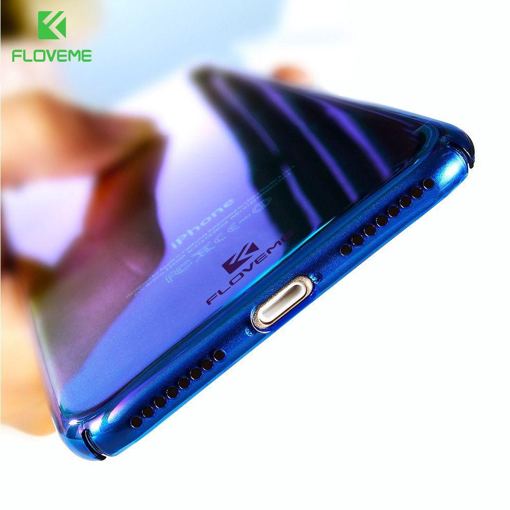 Gradient Blue Ray Light Iphone Case For 5 5s Se 6 6s Baseus Sky 8 Apple Covers 7 Plus Cases
