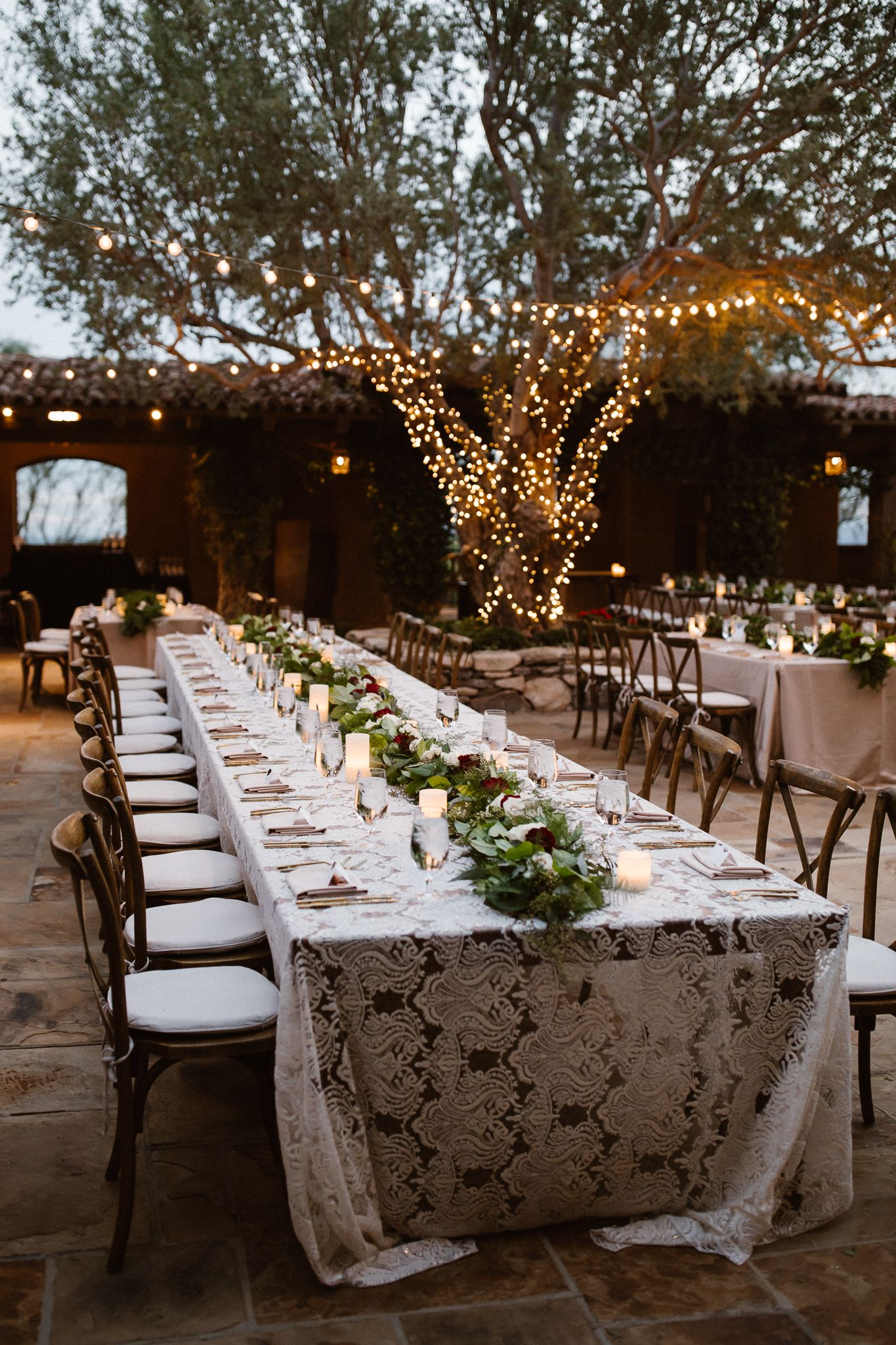 Scottsdale Arizona Dc Ranch Outdoor Courtyard Wedding Reception