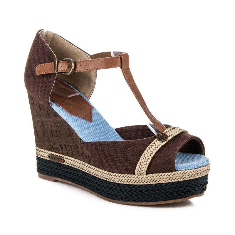 fd4b0c74a52f0 Letné sandále na kline HHS015A-1BR | Dámske sandále | Fashion ...