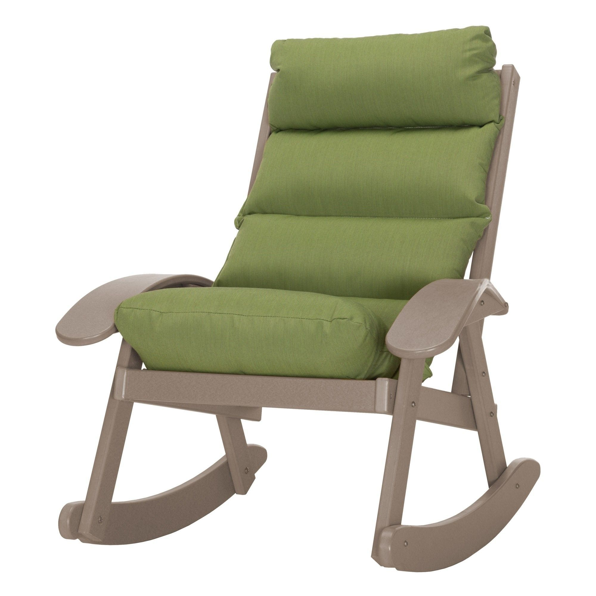 Coastal Rocking Chair with Cushions Rocking chair, Patio