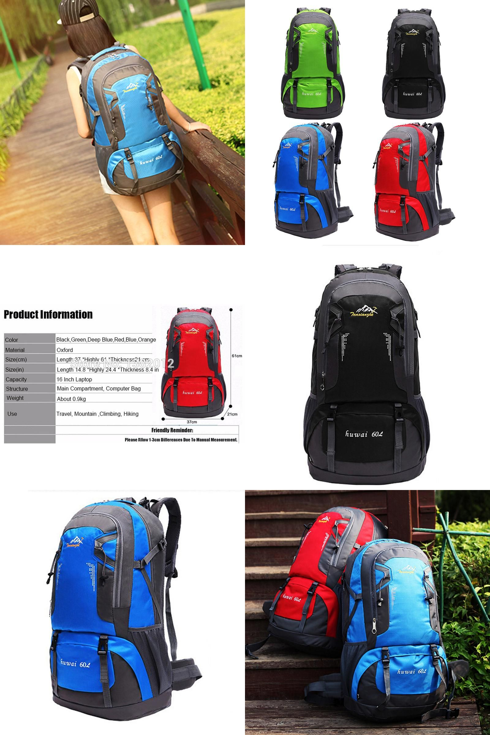 Visit to Buy] 60L Waterproof Backpack High Quality Oxford Nylon ...