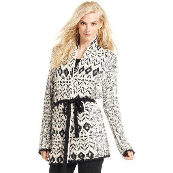 Calvin Klein Jeans Sweater, Long-Sleeve Fair-Isle Cardigan ($80 ...