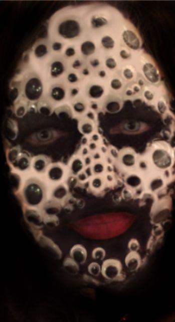 Googly Eyed Halloween Face Monique Esterhuizen Halloween Face Makeup Halloween Face Halloween