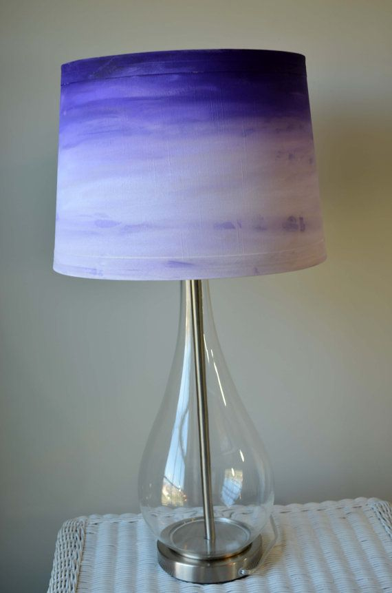 Retro Hand Stained Lampshade In Bright Colors Using Unicorn Spit