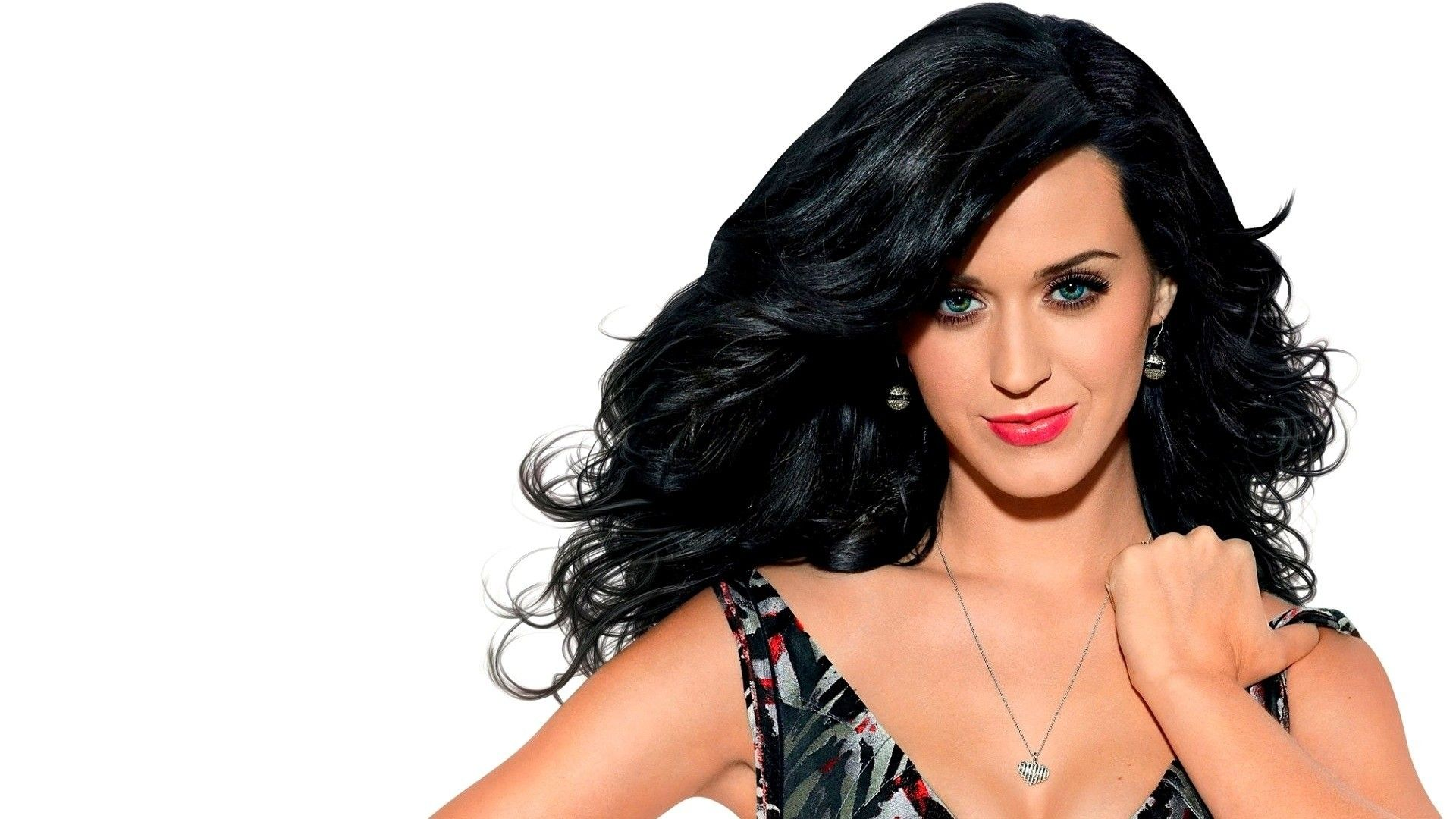 White Background Women Black Hair Necklace Singer Simple Background Red Lipstick Smil Katy Perry Wallpaper Katy Perry Images Katy Perry Pictures