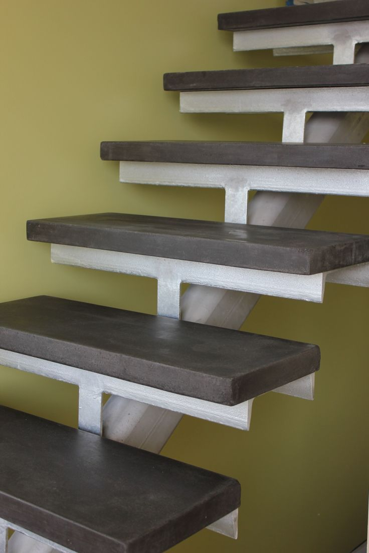 Best Concrete Stair Treads Gallery Install Metal Railings On 400 x 300