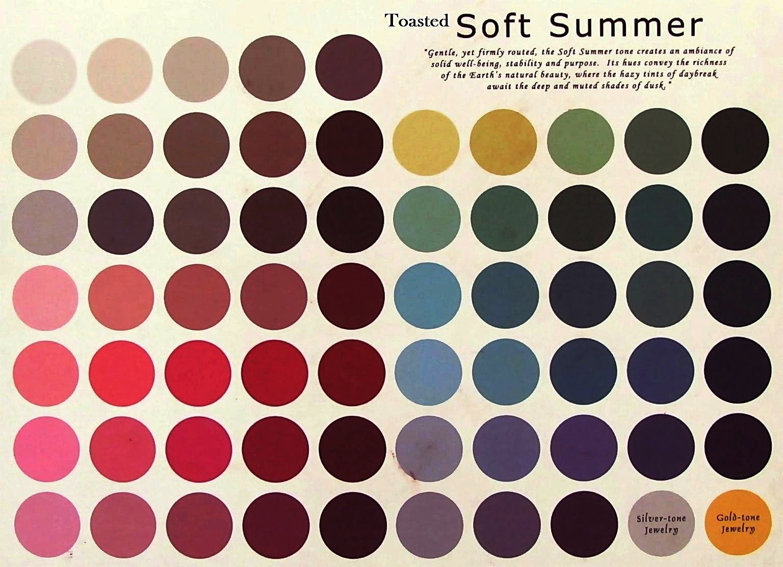 Toasted Soft Summer : tanned cool colors snuffed