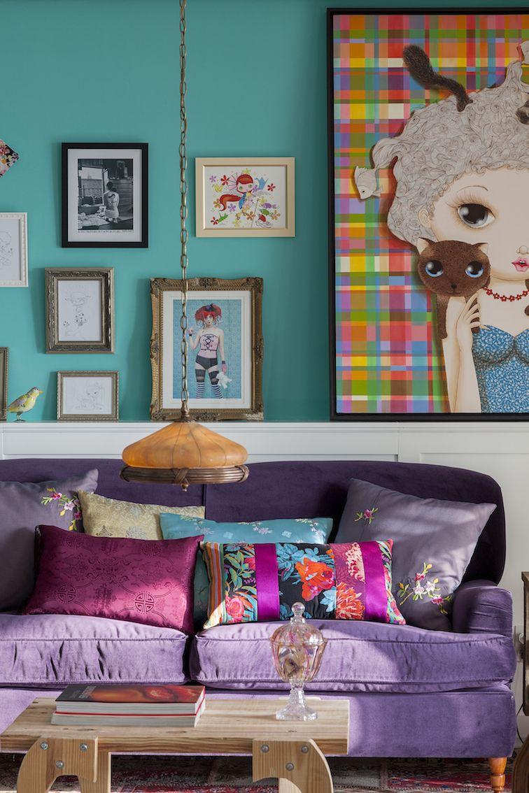 Casinha colorida especial salas de estar 2016 projetos for Decoracion de living 2016