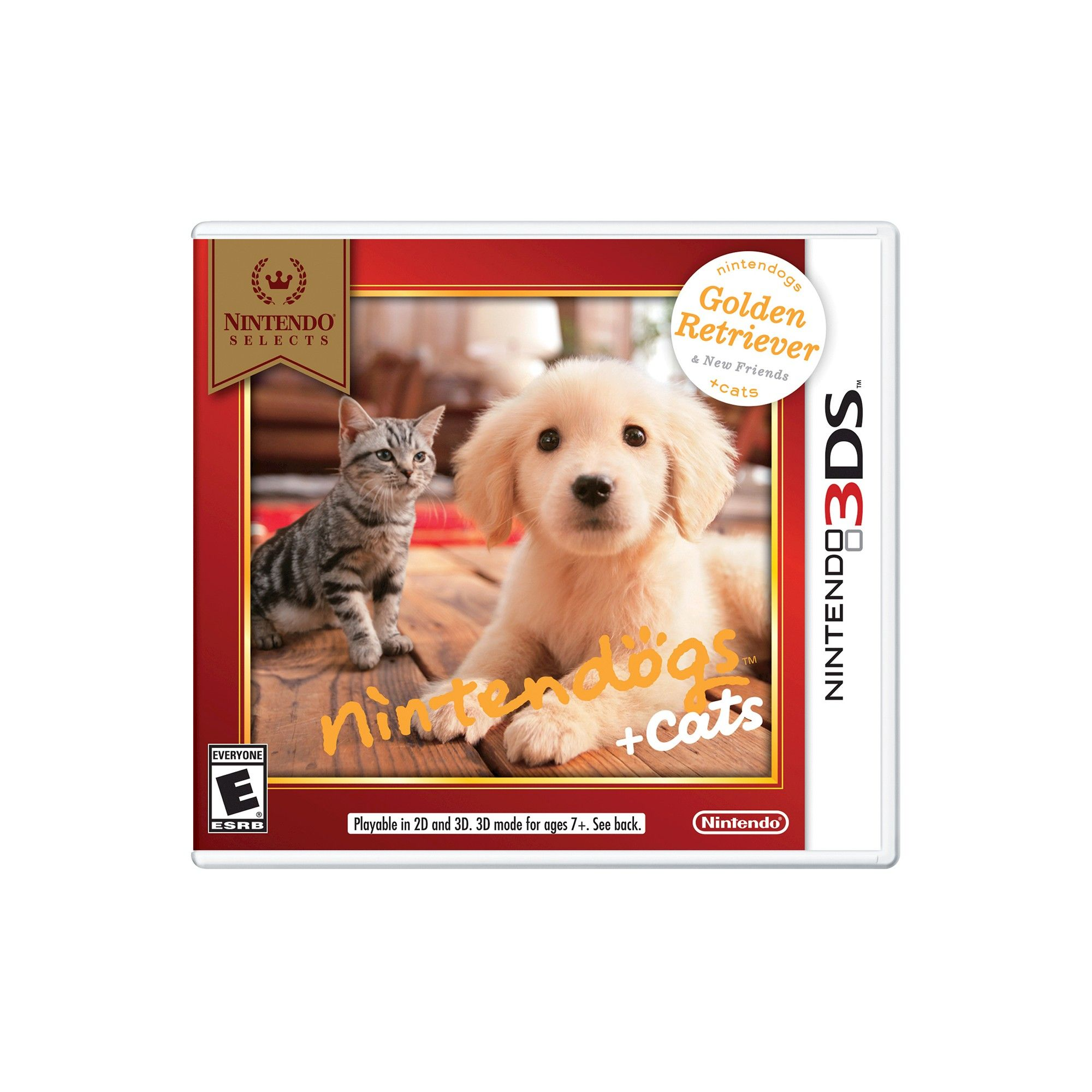 Nintendo Selects Nintendogs Cats Golden Retriever And New