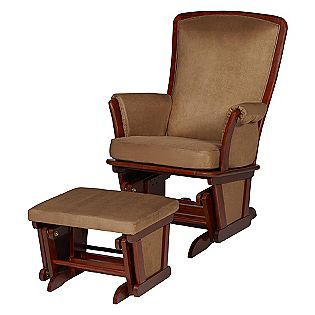 delta childrens upholstered glider and ottoman vintage espresso