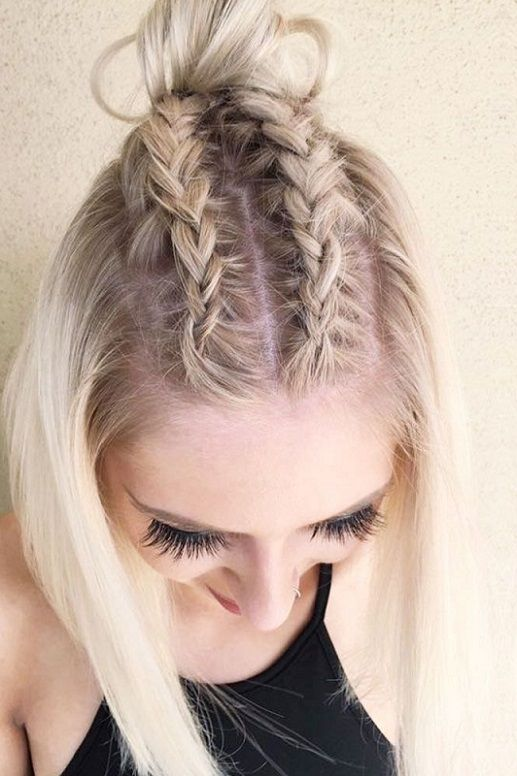 medium hair style photos 30 hairstyles with braids for hair 2017 2018 6121