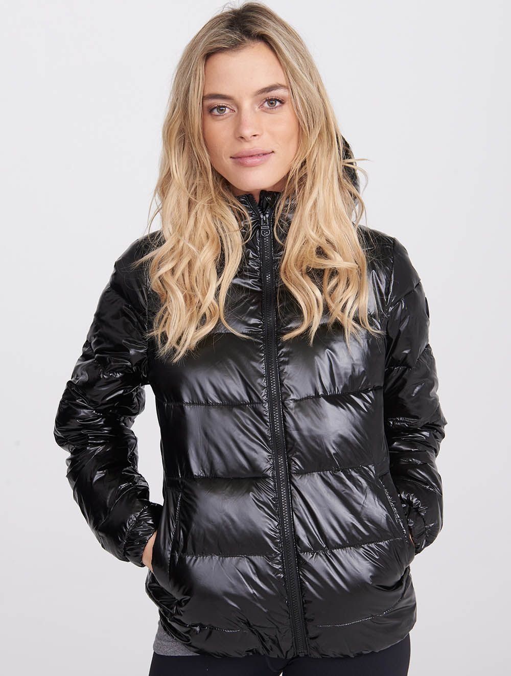 2ce79037c Water Repellent Shiny Quilted Bomber Jacket - Clothing - Women ...