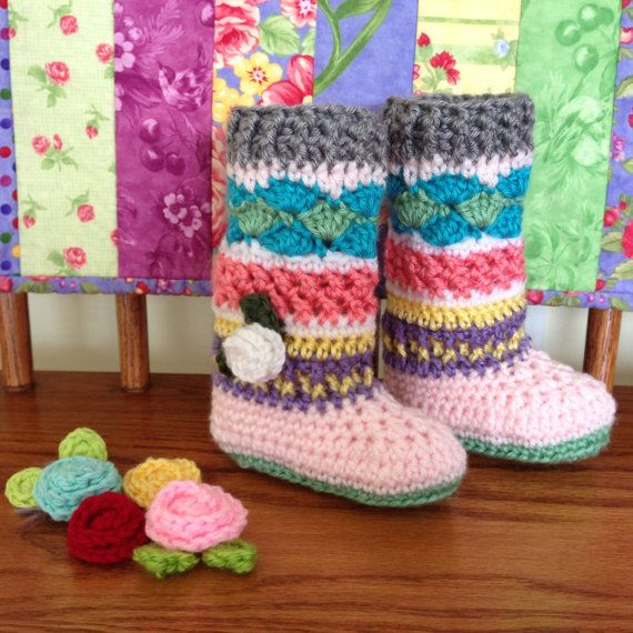 Crochet Baby Booties Legwarmers Knee Socks, Crochet Baby Girl ...