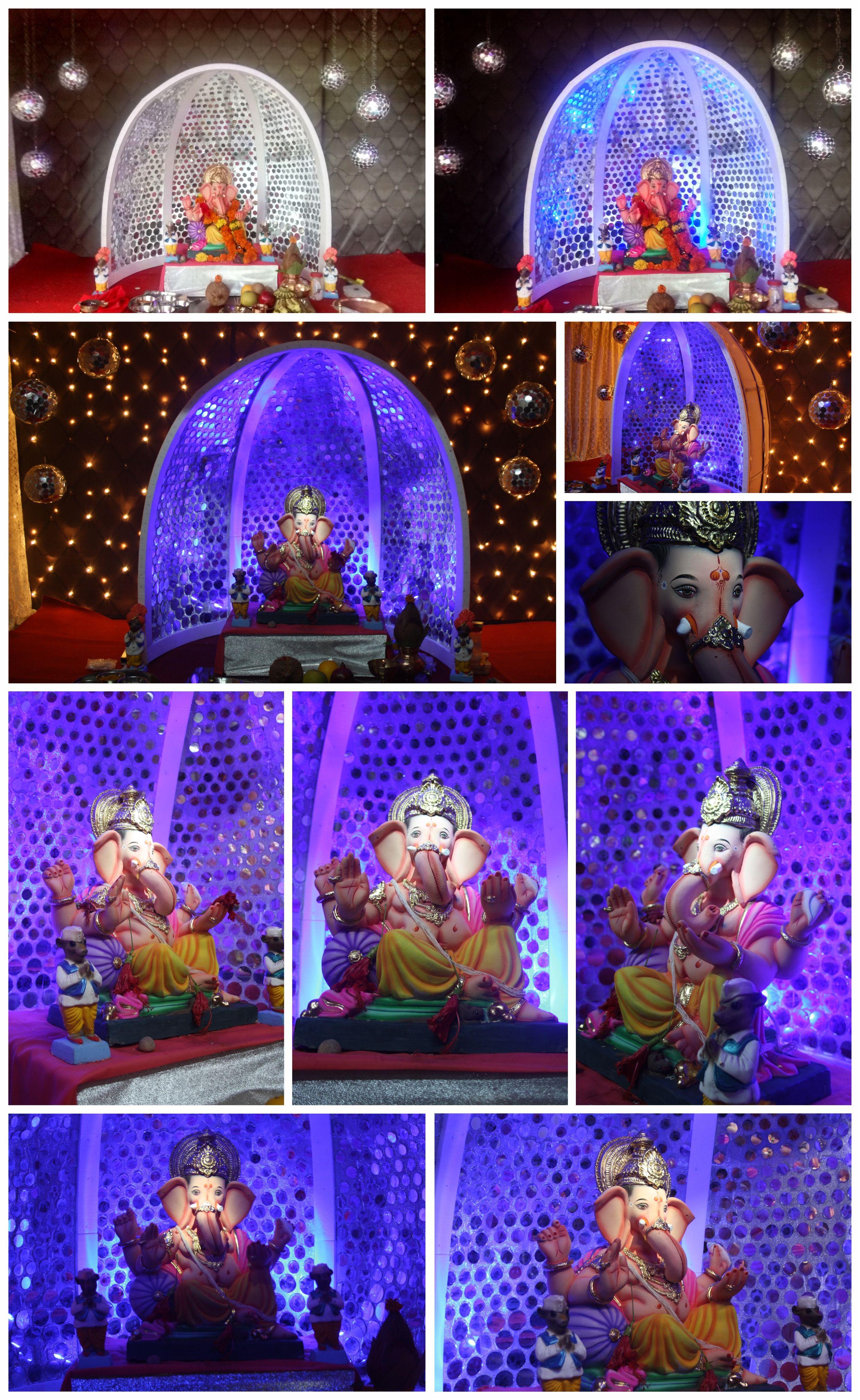 Ganapati Decoration Ganpati Decoration At Home Ganesh