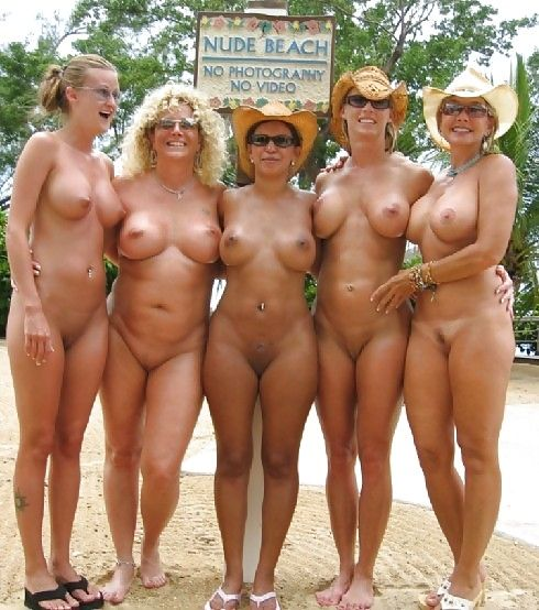 nude Mature ass group