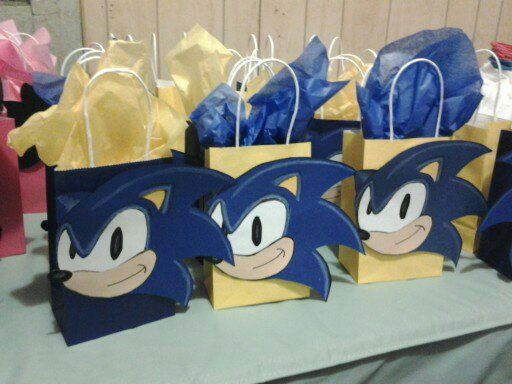 Sonic Goodie Bags Sonic Birthday Parties Sonic Party Hedgehog Birthday