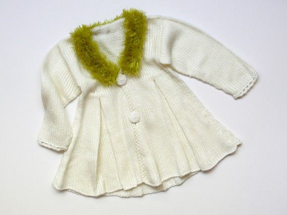 Elegant knitted coat for a baby girl by evahandmade on Etsy, $68.00.  @Angel Kittiyachavalit Randall.  Oh my heck!  Wouldn't this be so precious for your future baby?
