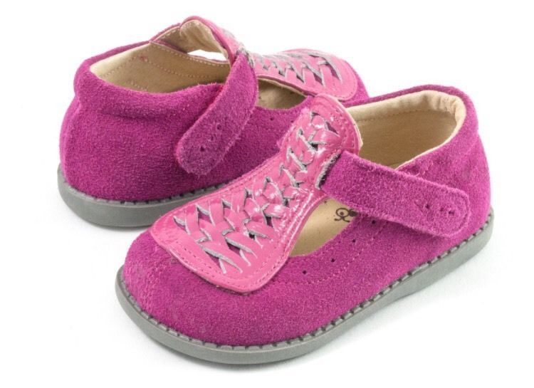 Livie & Luca Toi Toi Fuchsia Suede Toddler Girl Sizes 7, 8 NEW #LivieLuca #CasualShoes