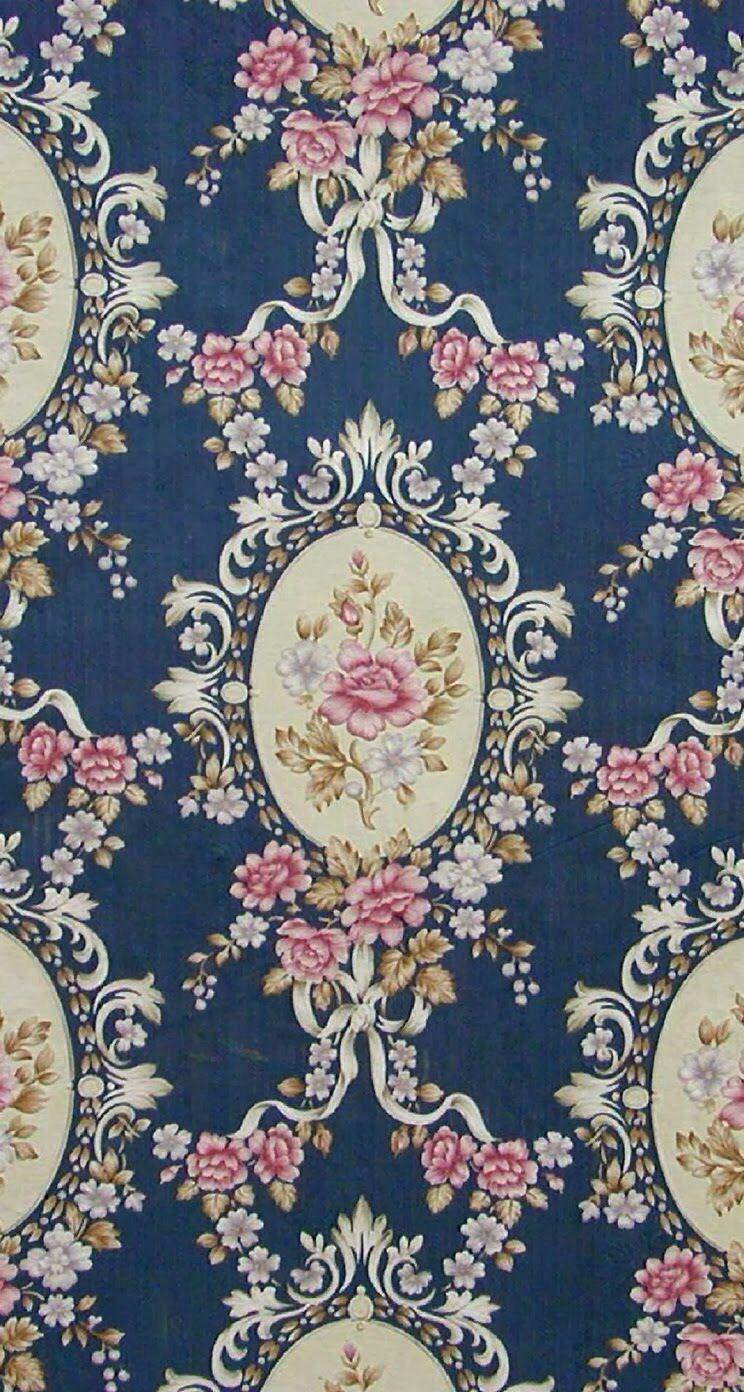 iPhone 5 wallpapers Vintage Flowet Print 2 フリー素材, アンティーク