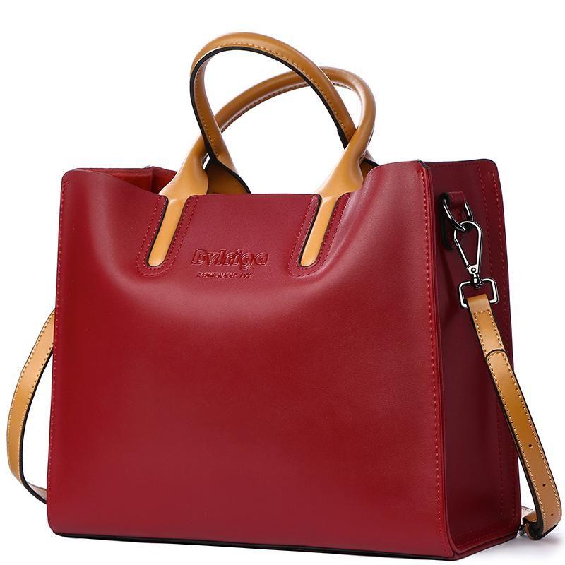 84c9407714 BVLRIGA Genuine leather bag famous brands women messenger bags women  handbags designer high quality women bag shoulder bag tote