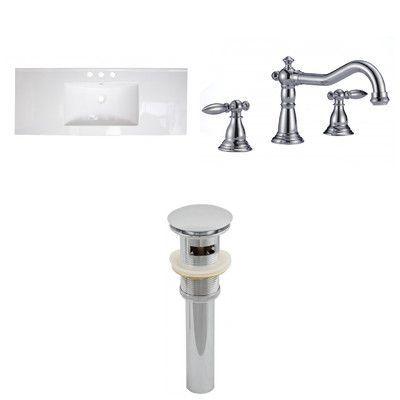 "American Imaginations 48"" Ceramic Drop-in Bathroom Vanity Top"