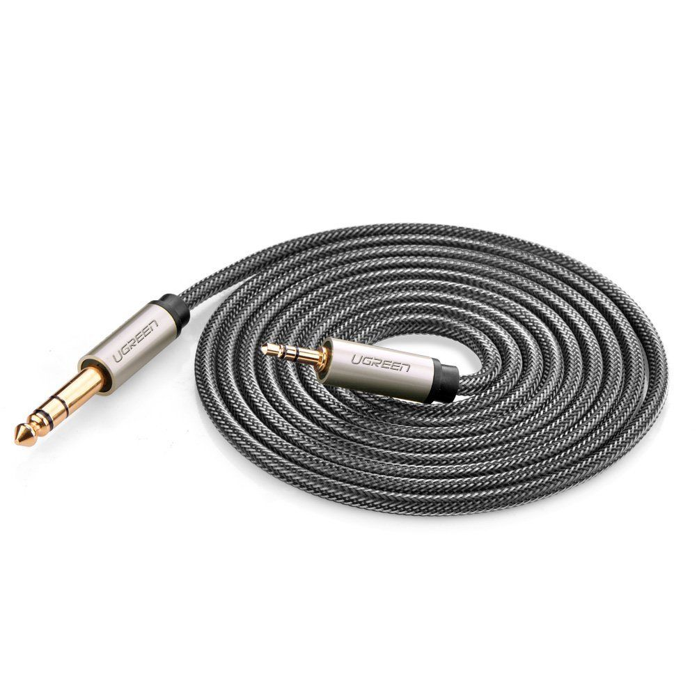 3.5mm Male to 6.35mm Male TRS Stereo Audio Cable with Zinc Alloy ...