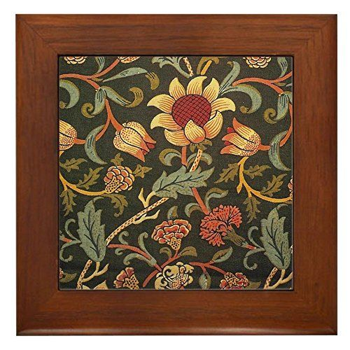 Decorative Tile Frames Cafepress  William Morris Evenlode  Framed Tile Decora