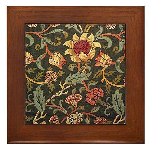 Decorative Tile Frames Cafepress  William Morris Evenlode  Framed Tile Decora