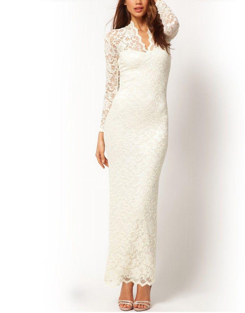 Miirue - Kate Maxi Lace Dress - White - Online Shopping Malaysia ...