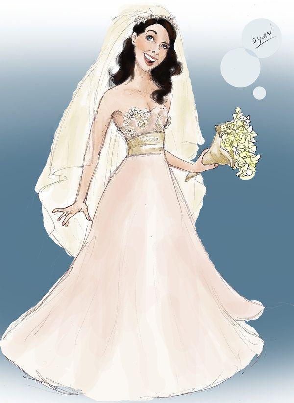 The original design for Lorelai Gilmore's wedding dress. This makes me so happy