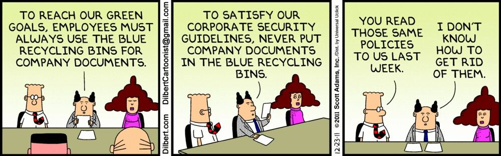 Awww work humor dilbert comics corporate security