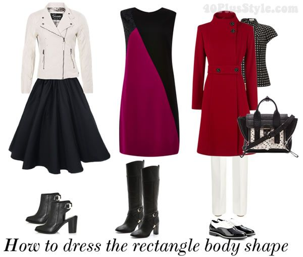 Rectangle Body Shape, Straight Body