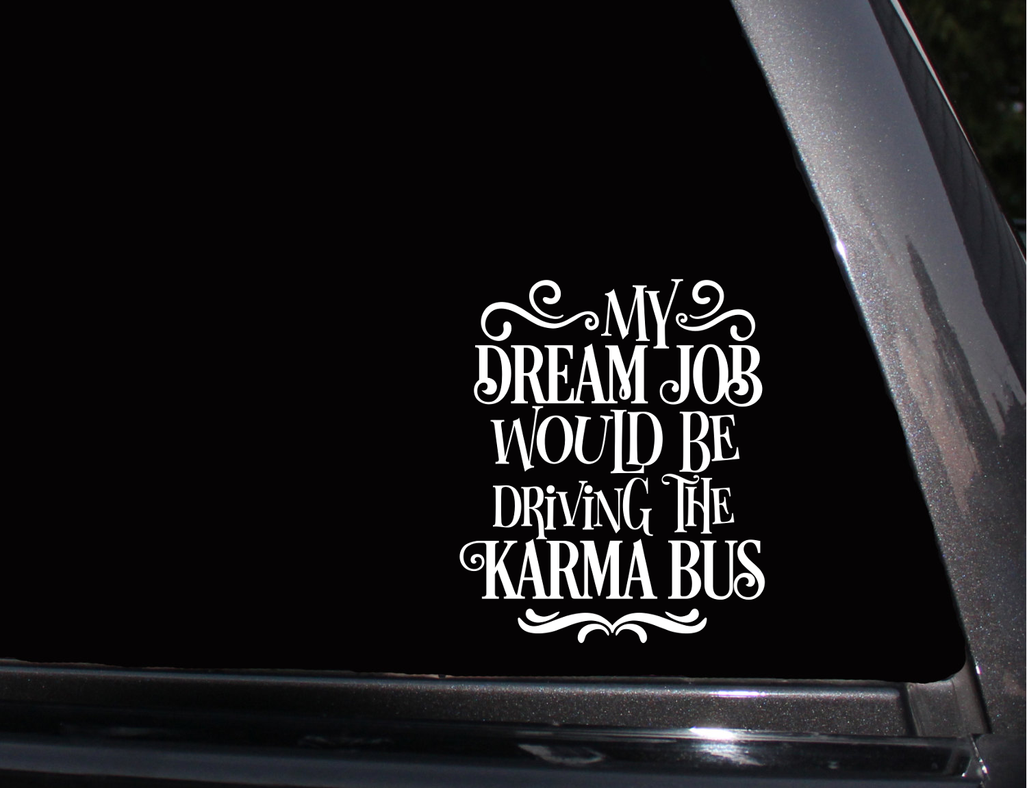 Driving The Karma Bus Vinyl Decal Phone Decal Laptop Decal Wall Decal Car Decal Sticker Car Decals Phone Decals Laptop Decal [ 1151 x 1500 Pixel ]
